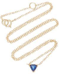 Shahla Karimi - Trillion 14k Gold Sapphire Necklace - Lyst