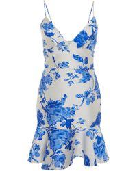 MESTIZA NEW YORK - Deia Mini Floral Dress - Lyst