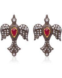 Arman Sarkisyan - Louiza 22k Gold Diamond Earrings - Lyst