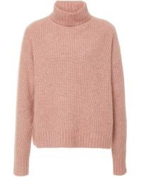 Sally Lapointe - Exclusive Rib-knit Cashmere And Silk Blend Sweater - Lyst