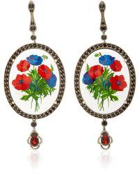 Axenoff Jewellery - Opium Silver Drop Earrings - Lyst