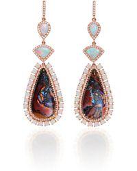 Nina Runsdorf - M'o Exclusive One-of-a-kind Lambina Opal Earrings - Lyst