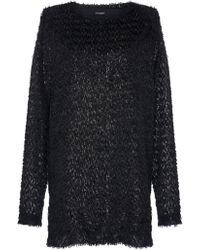 Balmain - Feathery Metallic Knit Tunic - Lyst