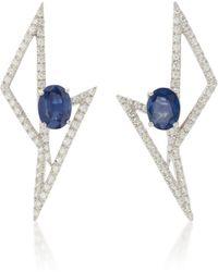 Kavant & Sharart - 18k White Gold, Sapphire And Diamond Earrings - Lyst