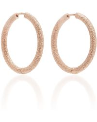 Carolina Bucci - Florntine Finish Small Thick Round Hoop Earrings - Lyst