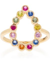 She Bee - Open Pear 14k Gold Sapphire Ring - Lyst