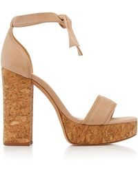 Alexandre Birman - Celine Platform Suede Sandals - Lyst