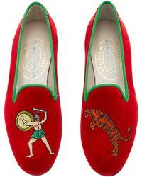 Stubbs & Wootton - M'o Exclusive: Gladius Tomato Loafer - Lyst