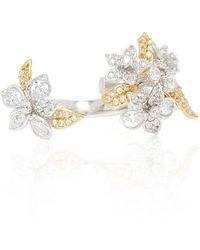 Anabela Chan | Bellflower 18k Gold And Rhodium Diamond Ring | Lyst