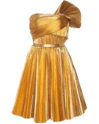 Ralph & Russo - Asymetric Pleated Mini Dress - Lyst