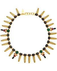 Nicole Romano - Keystone Gold-plated Crystal Necklace - Lyst