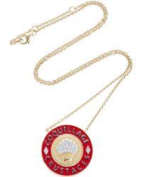 Yvonne Léon - Enamel Crustaceans 18k Gold Diamond Necklace - Lyst