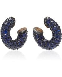 Gioia - Pirate 18k Gold And Sapphire Earrings - Lyst