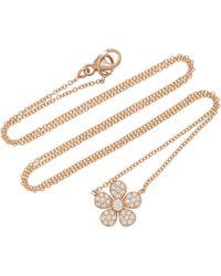 Colette - Ivy 18k Rose Gold Pendant Necklace - Lyst