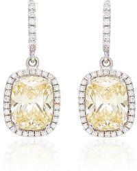 Anabela Chan 18k White Gold, Sapphire, And Diamond Earrings