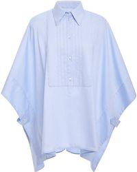Victoria, Victoria Beckham - Cape-effect Cotton-poplin Shirt - Lyst