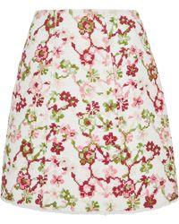 Giambattista Valli - Floral Mini Skirt - Lyst