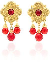 Ben-Amun - Gold-plated Brass Crystal Earrings - Lyst