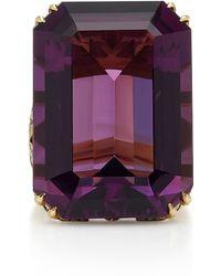 Sylva & Cie - 18k Gold, Amethyst And Diamond Ring - Lyst