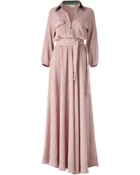 DANEH - Maxi Gingham Dress - Lyst