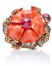 Wendy Yue - Coral Flower Ring - Lyst