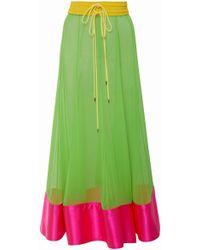 Prabal Gurung - Bombo Silk-chiffon Midi Skirt - Lyst