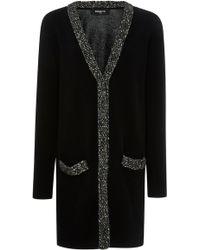 Paule Ka - Wool-blend Long Sleeve Cardigan - Lyst