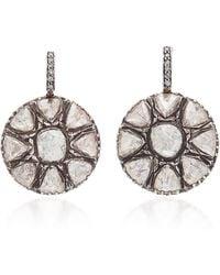 Sanjay Kasliwal - Gold, Silver And Diamond Earrings - Lyst