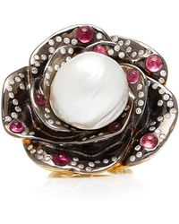 Sylvie Corbelin - One-of-a-kind Pearl Flower Ring - Lyst