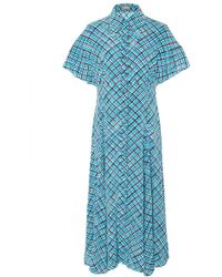 Michael Kors - Printed Silk-crepe Midi Shirt Dress - Lyst
