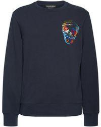 Alexander McQueen - Embroidered Skull Cotton Sweatshirt - Lyst