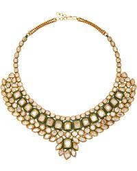 Amrapali - 22k Silver, 18k Gold Necklace And Diamond Necklace - Lyst
