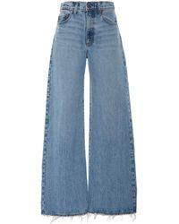 Nobody Denim Skylar High-rise Wide-leg Jeans