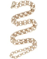 "Sylva & Cie - Rose Gold 18"" Chain - Lyst"