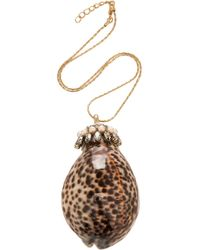 Etro - Large Shell Necklace - Lyst