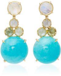 Daria de Koning - Czarina 18k Gold Multi-stone Drop Earrings - Lyst