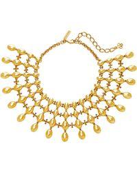 Oscar de la Renta - Dot Gold-tone Necklace - Lyst