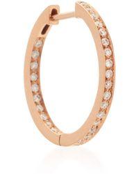 Vanrycke - Officiel 18k Rose Gold Diamond Earring - Lyst