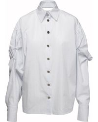 ANOUKI - Blue Check Loose Fit Shirt - Lyst