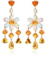 Nina Runsdorf - M'o Exclusive: One-of-a-kind Mixed Shape Mexican Fire Opal Earrings - Lyst