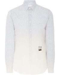 Prada - Degrade Cotton Dress Shirt - Lyst