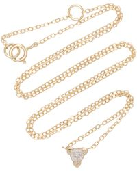 Shahla Karimi - Trillion 14k Gold Diamond Necklace - Lyst