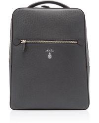 Mark Cross - Alexander Grey Saffiano Leather Backpack - Lyst