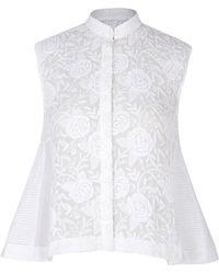 Rahul Mishra - Marine Embroidered Silk Blend Sleeveless Shirt - Lyst