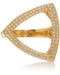 Karma El Khalil - Trilogy 18k Gold And Diamond Ring - Lyst
