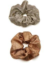 Jennifer Behr - Set-of-two Metallic Scrunchies - Lyst