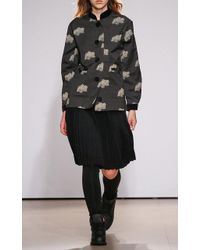 Ksenia Schnaider | Printed Band Collar Coat | Lyst