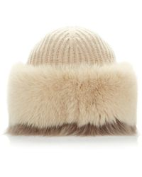 Agnona - Cashmere And Fox Bonnet - Lyst