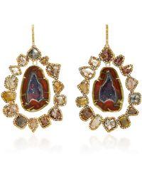 Kimberly Mcdonald - Geode And Diamond Slice Earrings - Lyst