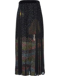 Rahul Mishra - Midnight Landscape Paneled Maxi Skirt - Lyst